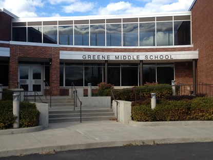 photo of the Greene Middle School main entrance