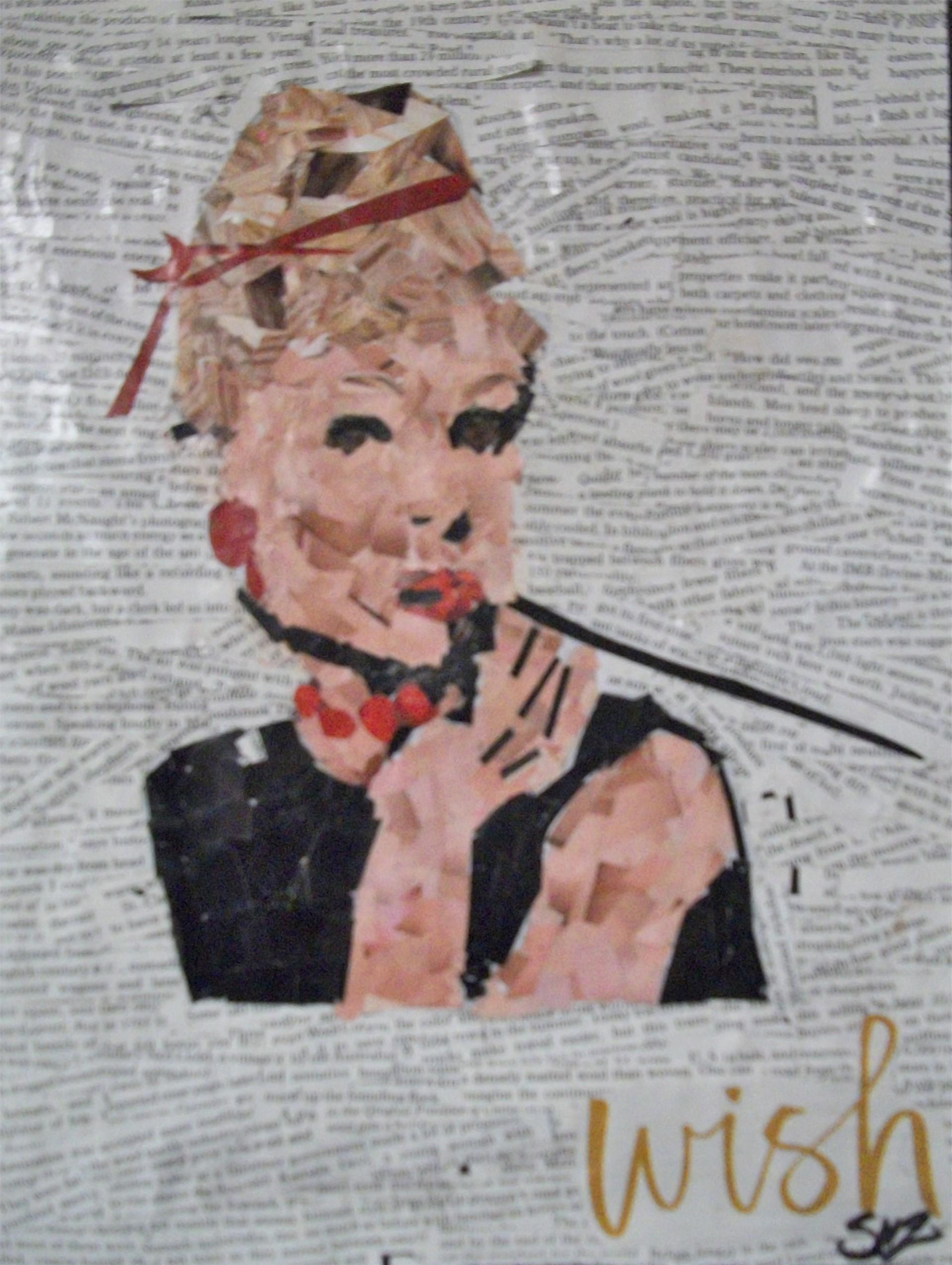 'Audrey' Collage Color Paper by Senior Sreydy Mareya Ziobro