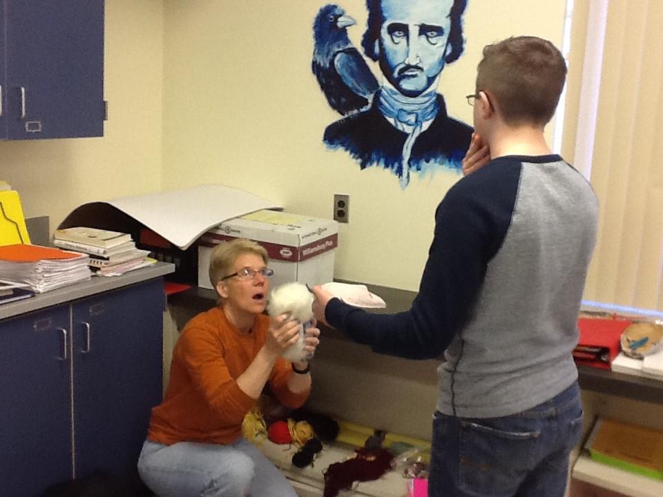 Teaching artist Mary Lake