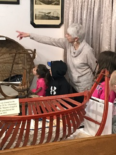 Second grade visiting the museum