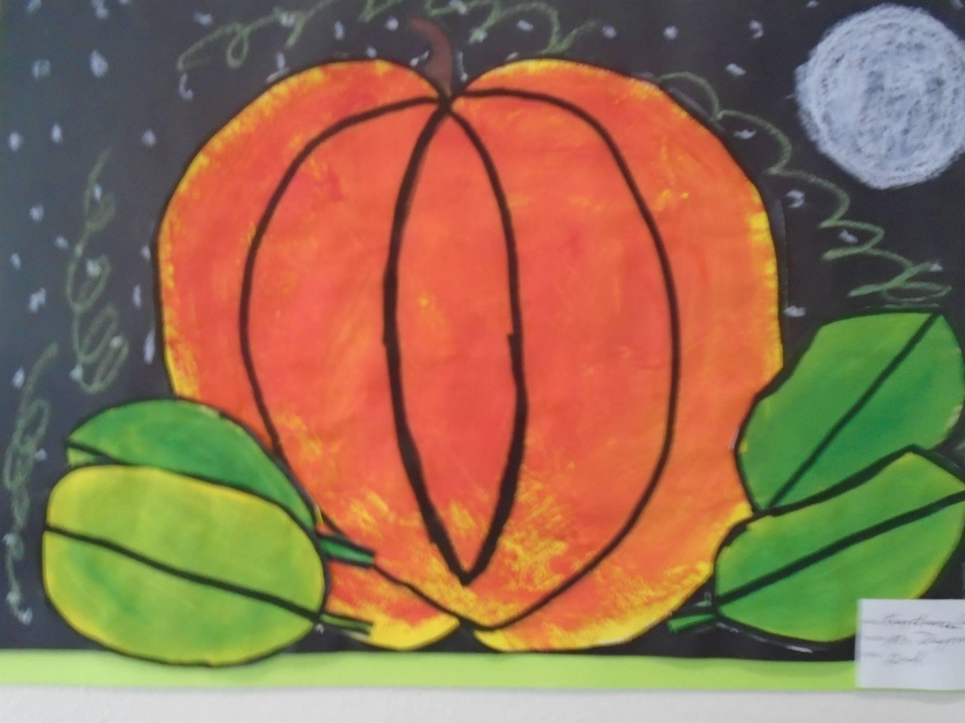 Painting of a Pumpkin at Night