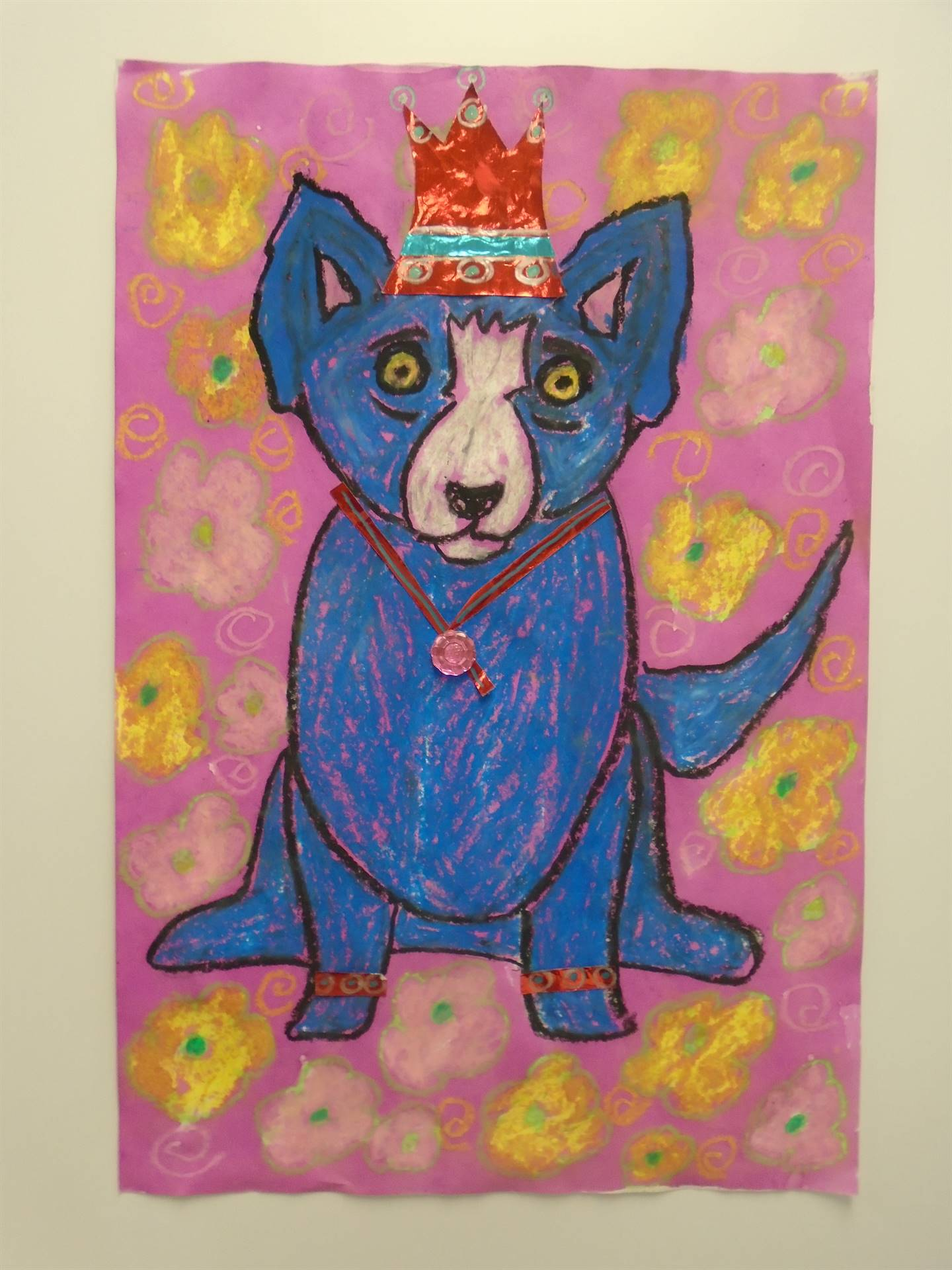 Colorful Dog with Embellishments
