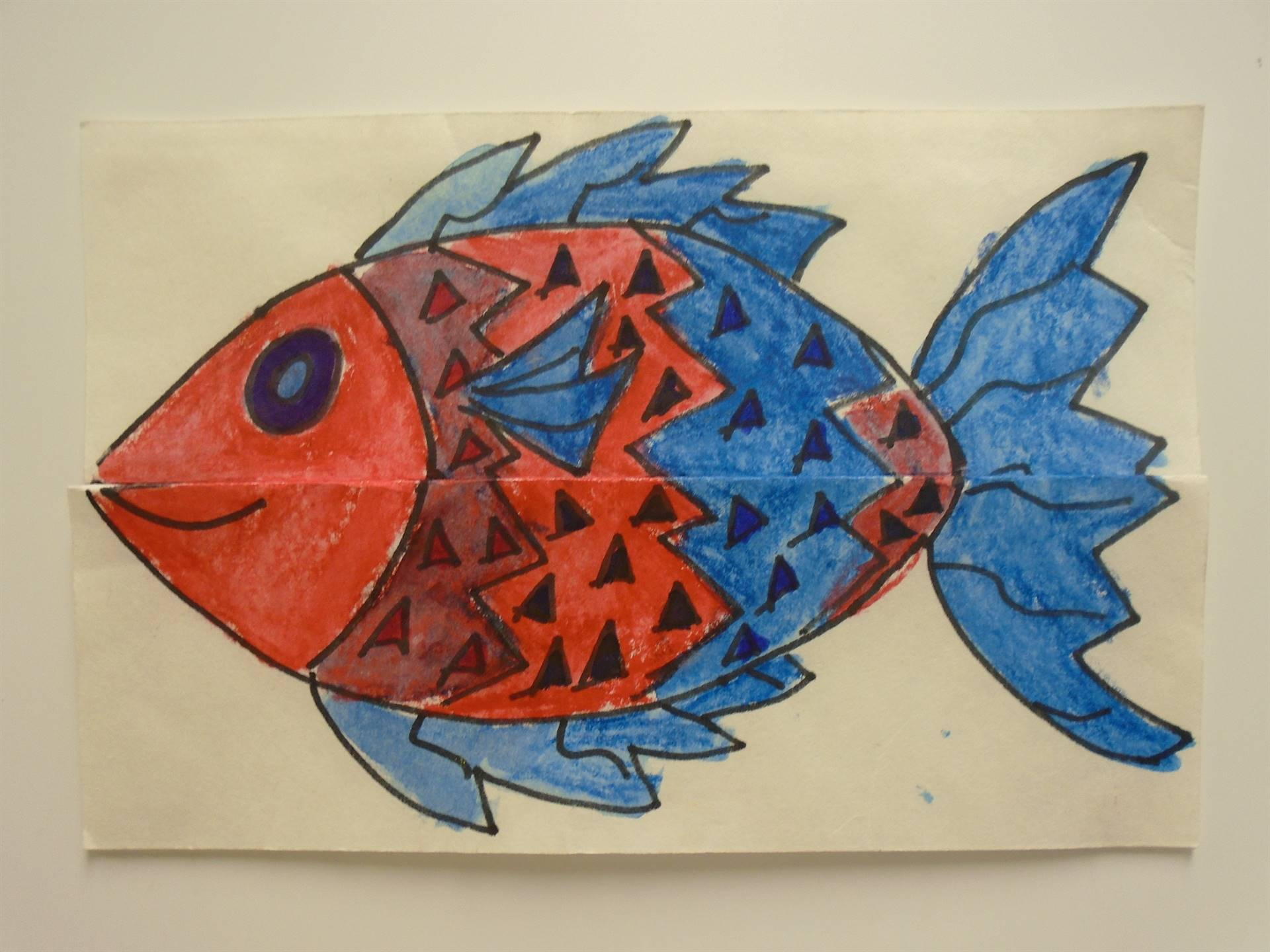Colorful Fish (closed with unopened mouth)