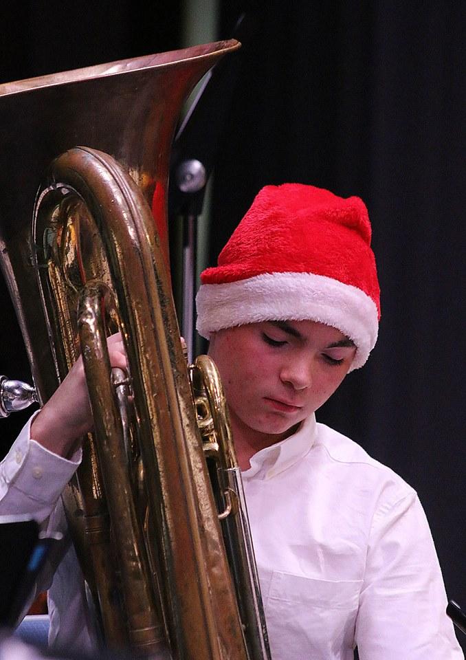 Boy playing the Tuba