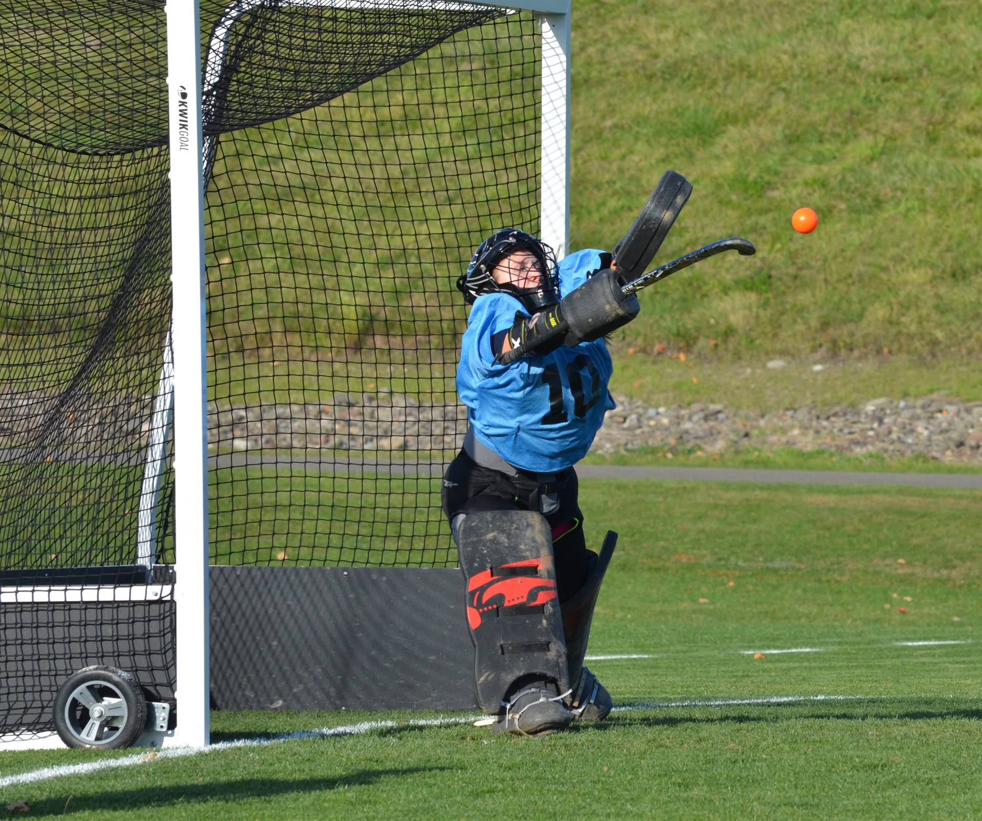 photo of field hockey goalie