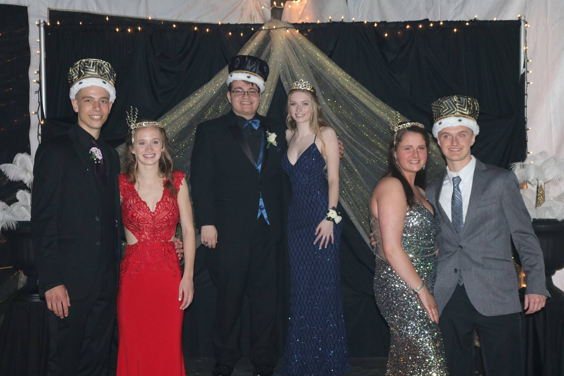 photo of prom court