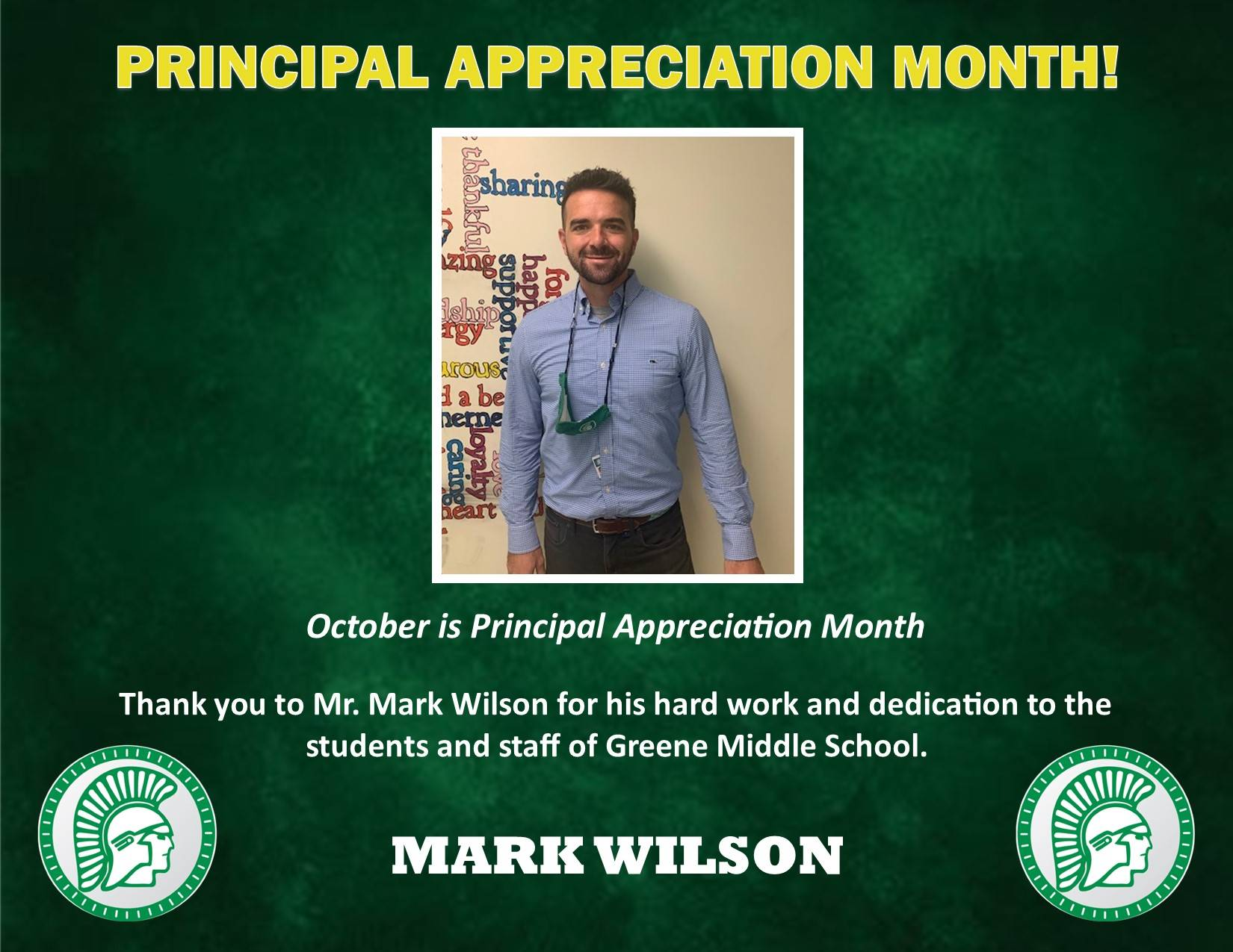 Principal Mark Wilson Appreciation Bio