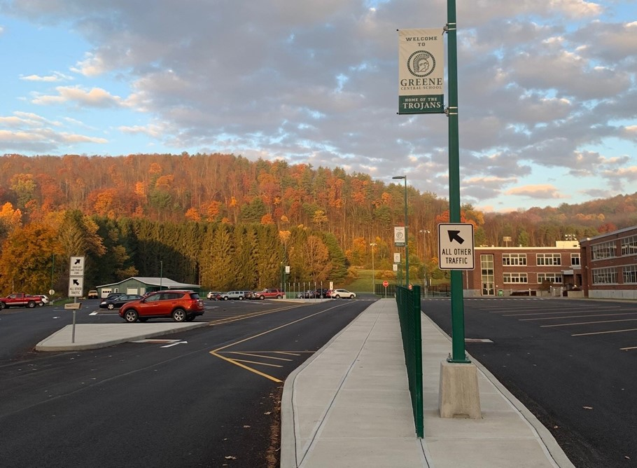 Photo of middle school parking lot