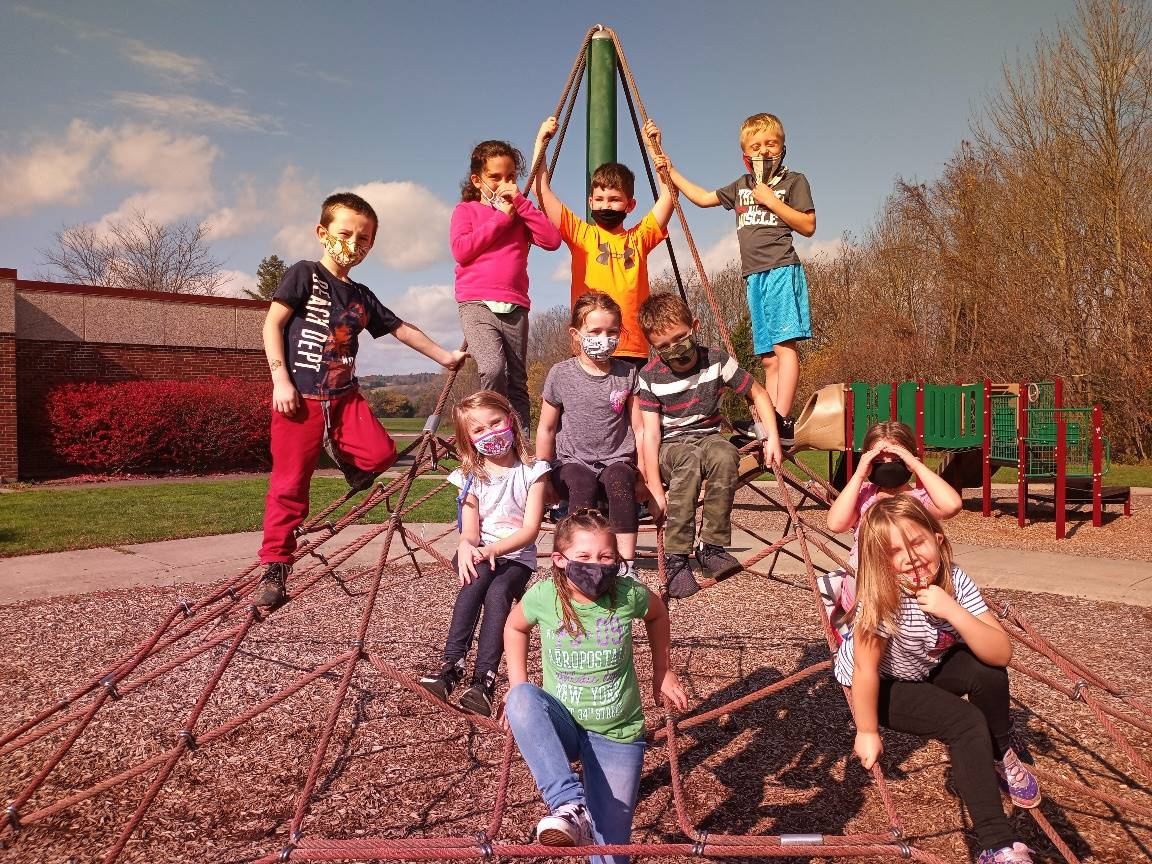 Photo of students on the playground