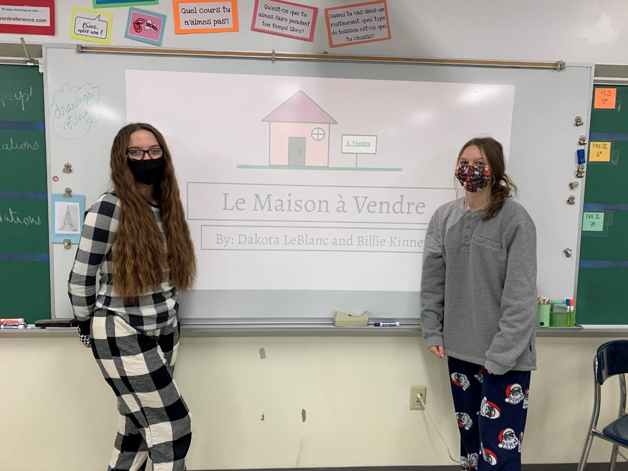 Photo of Dakota LeBlanc and Billie Kinney with their French real estate project
