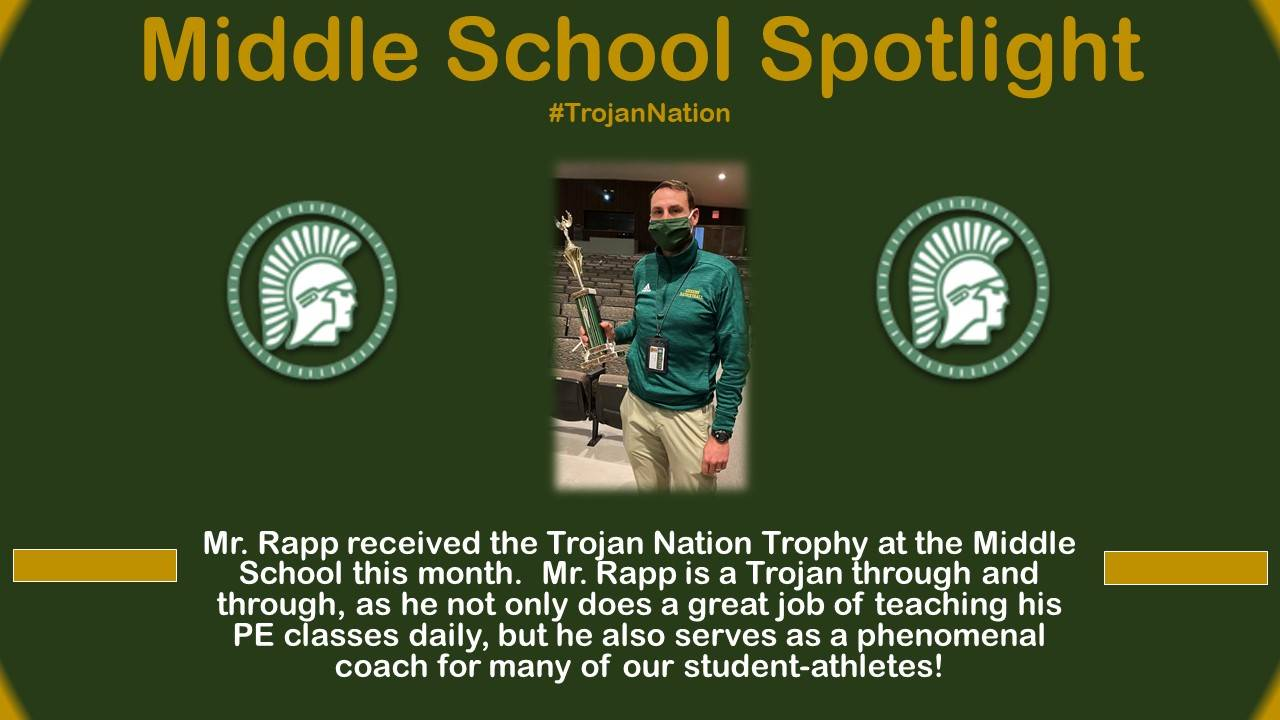 Mr. Rapp Middle School Spotlight bio