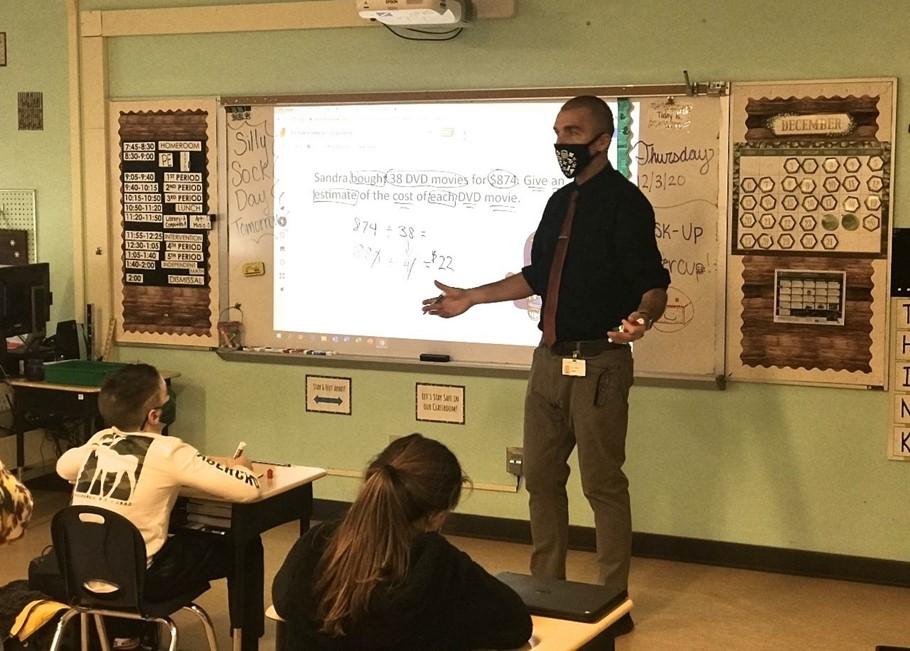 Photo Mr. Tallman teaching his class