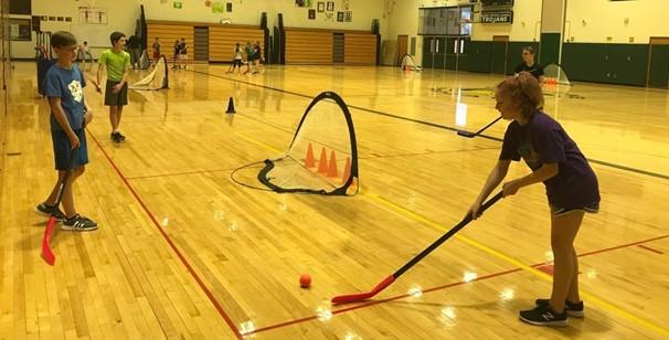 Middle School Phys. Ed. Floor Hockey