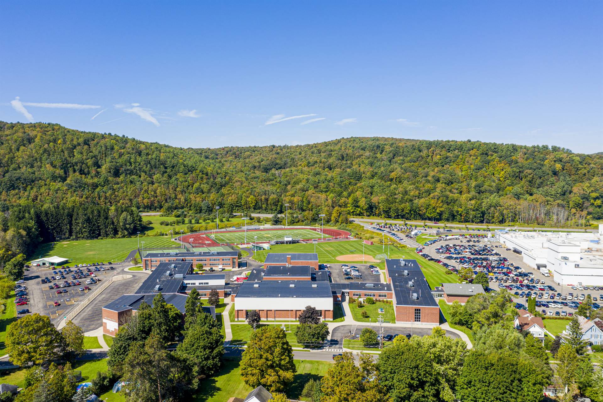 aerial photo on middle school campus