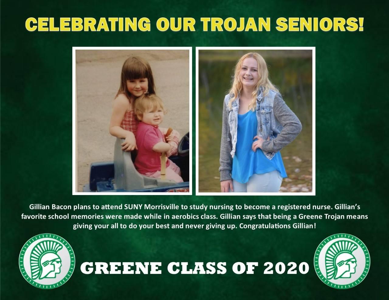 Gillian Bacon Senior Spotlight
