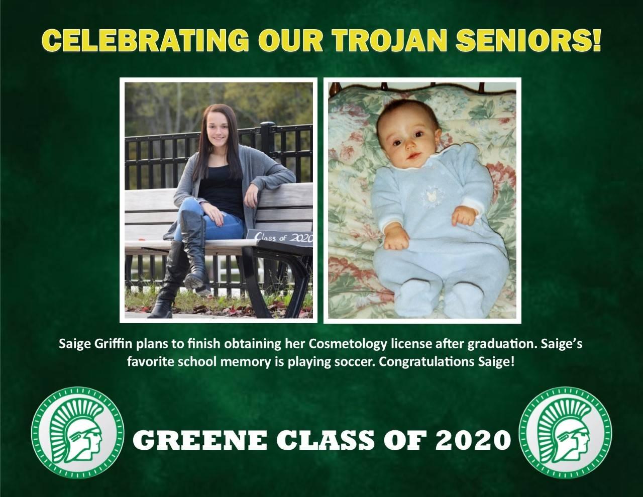 Saige Griffin Senior Spotlight