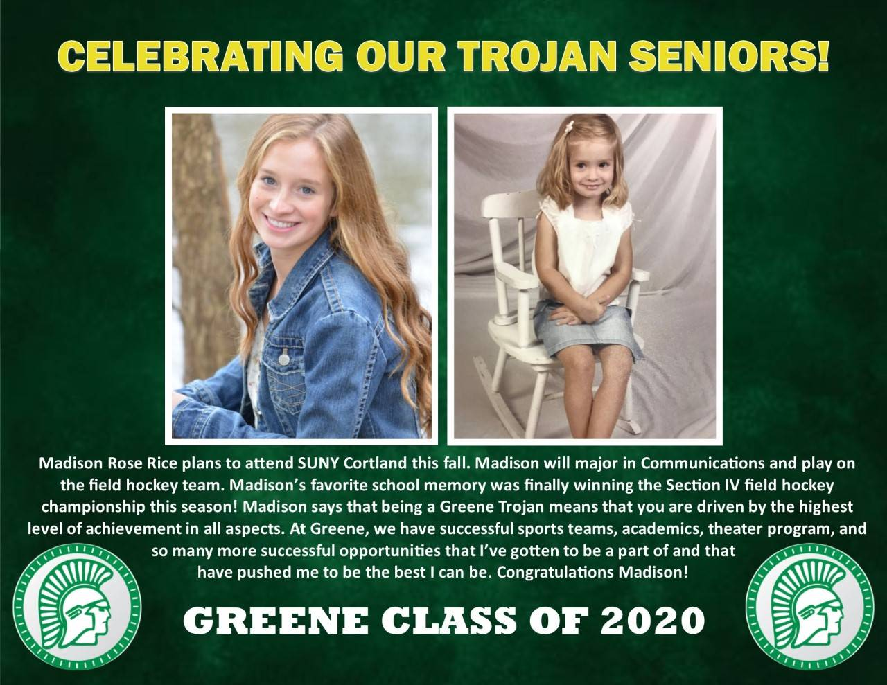 Madison Rice Senior Spotlight