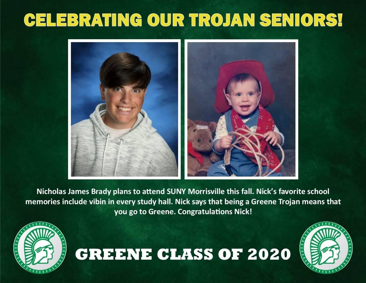 Nick Brady Senior Spotlight