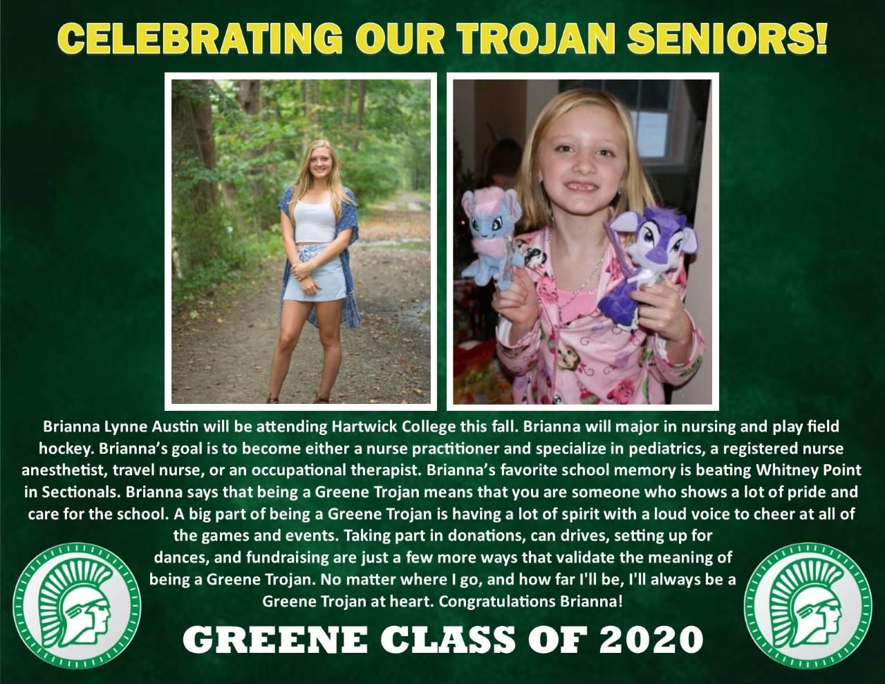 Brianna Austin Senior Spotlight