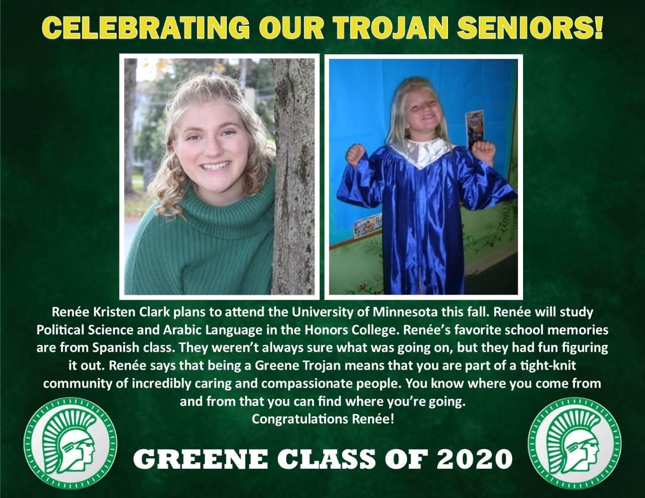 Renee Clark Senior Spotlight