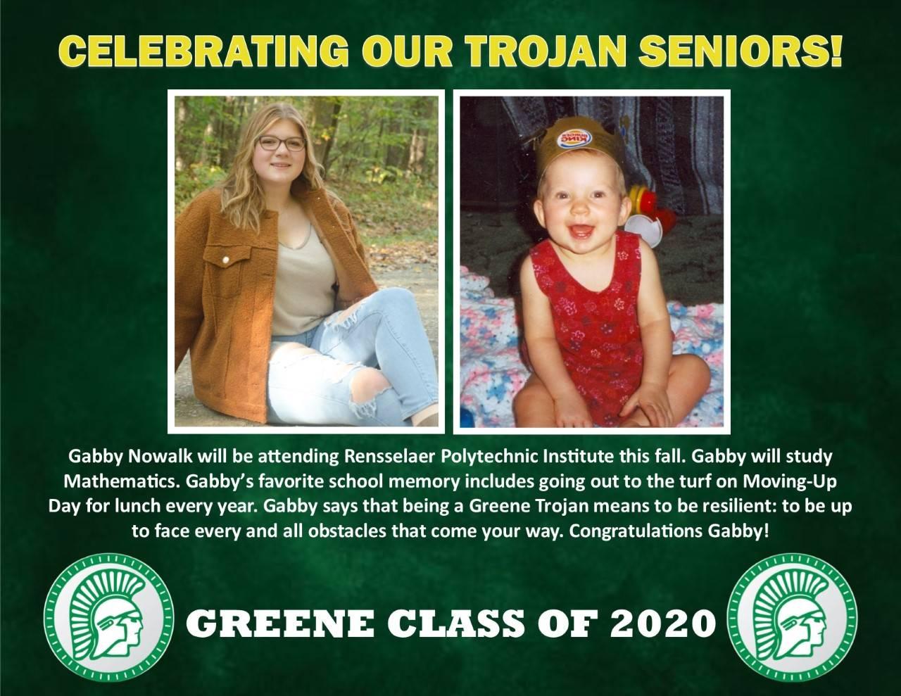 Gabby Nowalk Senior Spotlight