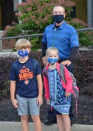 Mr. Eggleston and children photo