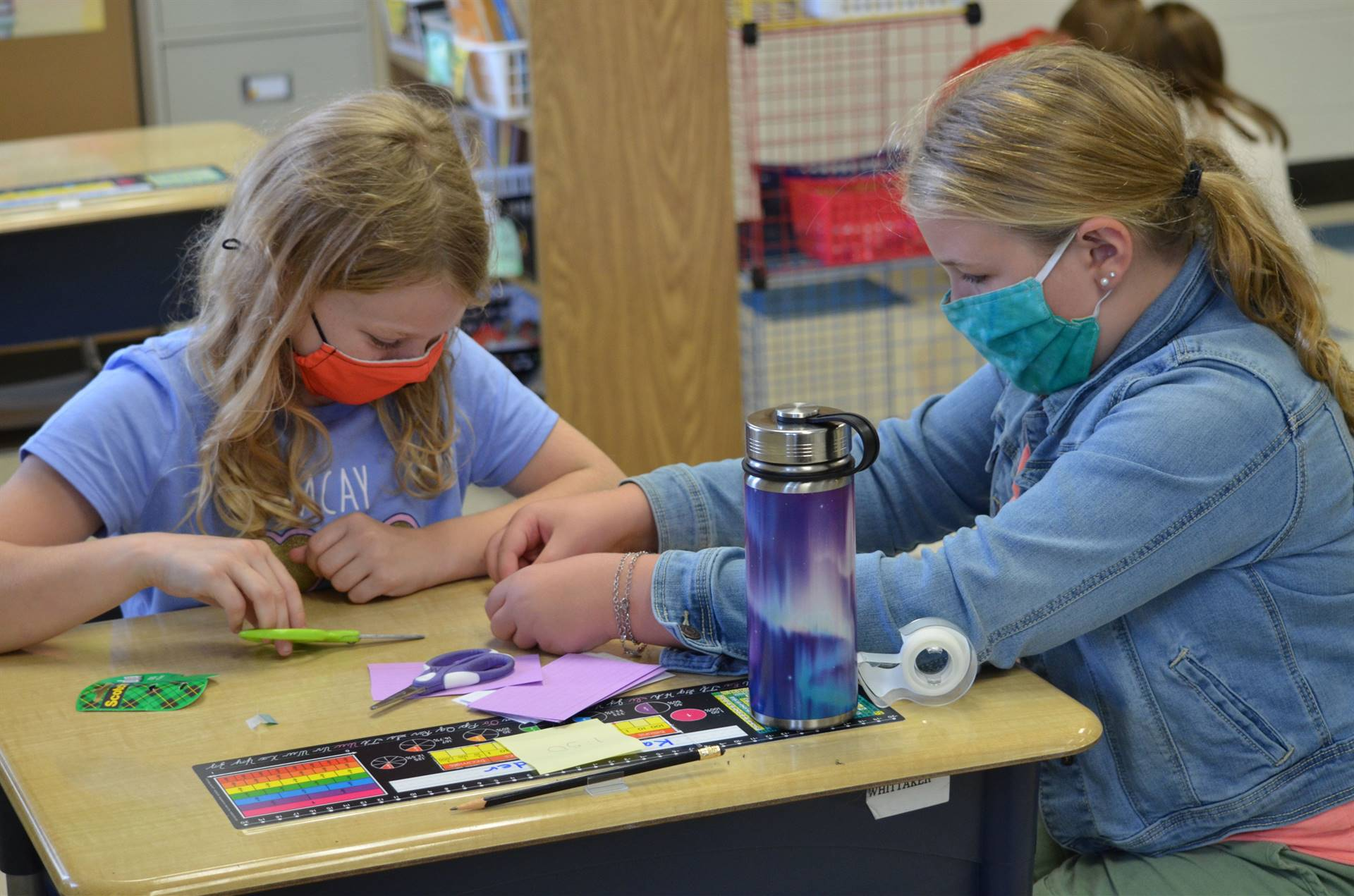 Photo of Intermediate students working on project
