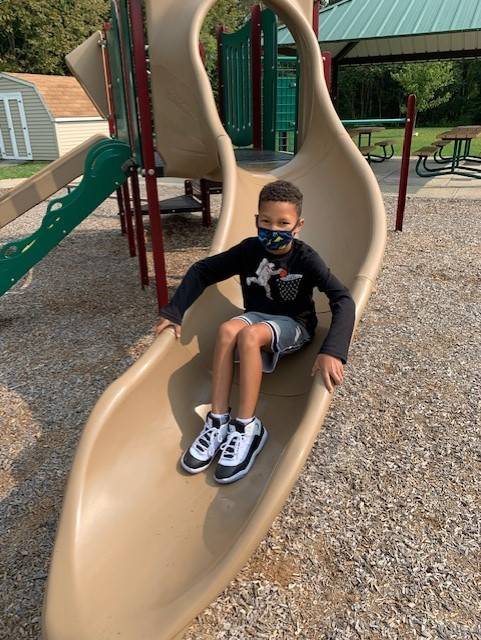 picture of Mrs. Blakeslee's kids on playground