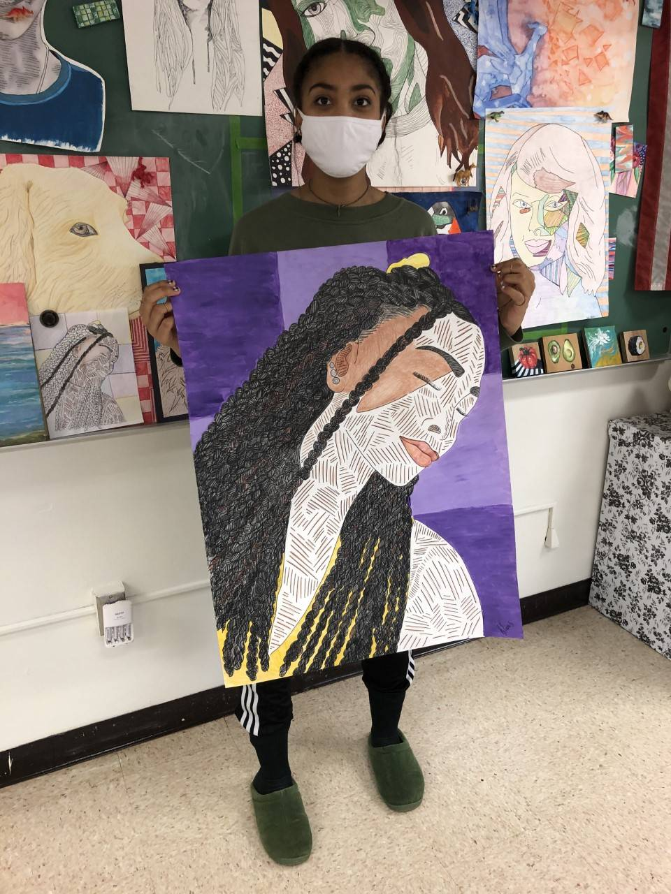 Photo of HS Art Student 3
