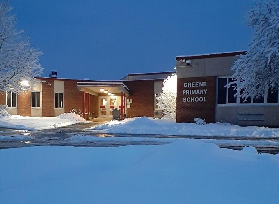Winter photo of Greene Primary School