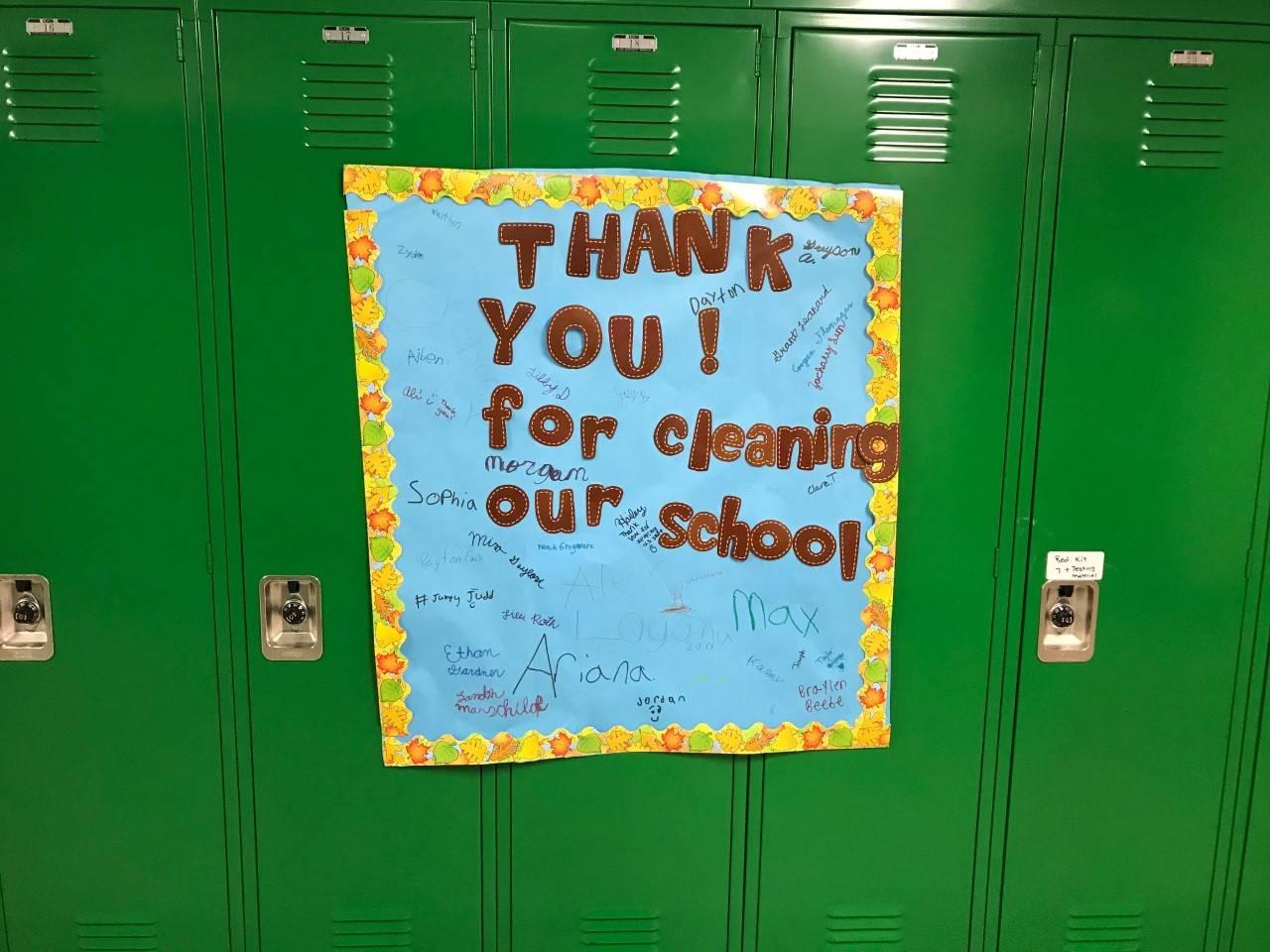 Thank you to custodians photo