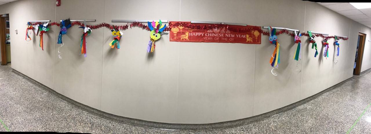 Panoramic of Chinese New Year artwork