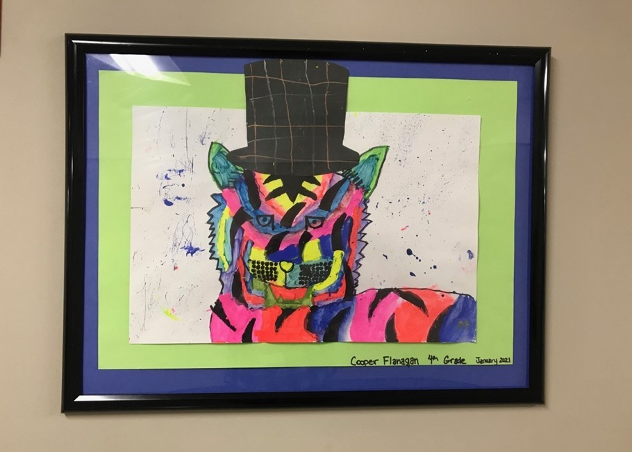 Photo of Cooper Flanagan's artwork at Intermediate School