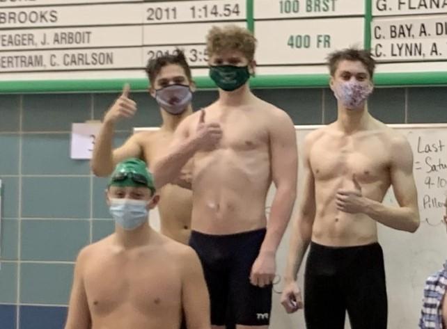 Record-setting boys swim relay team
