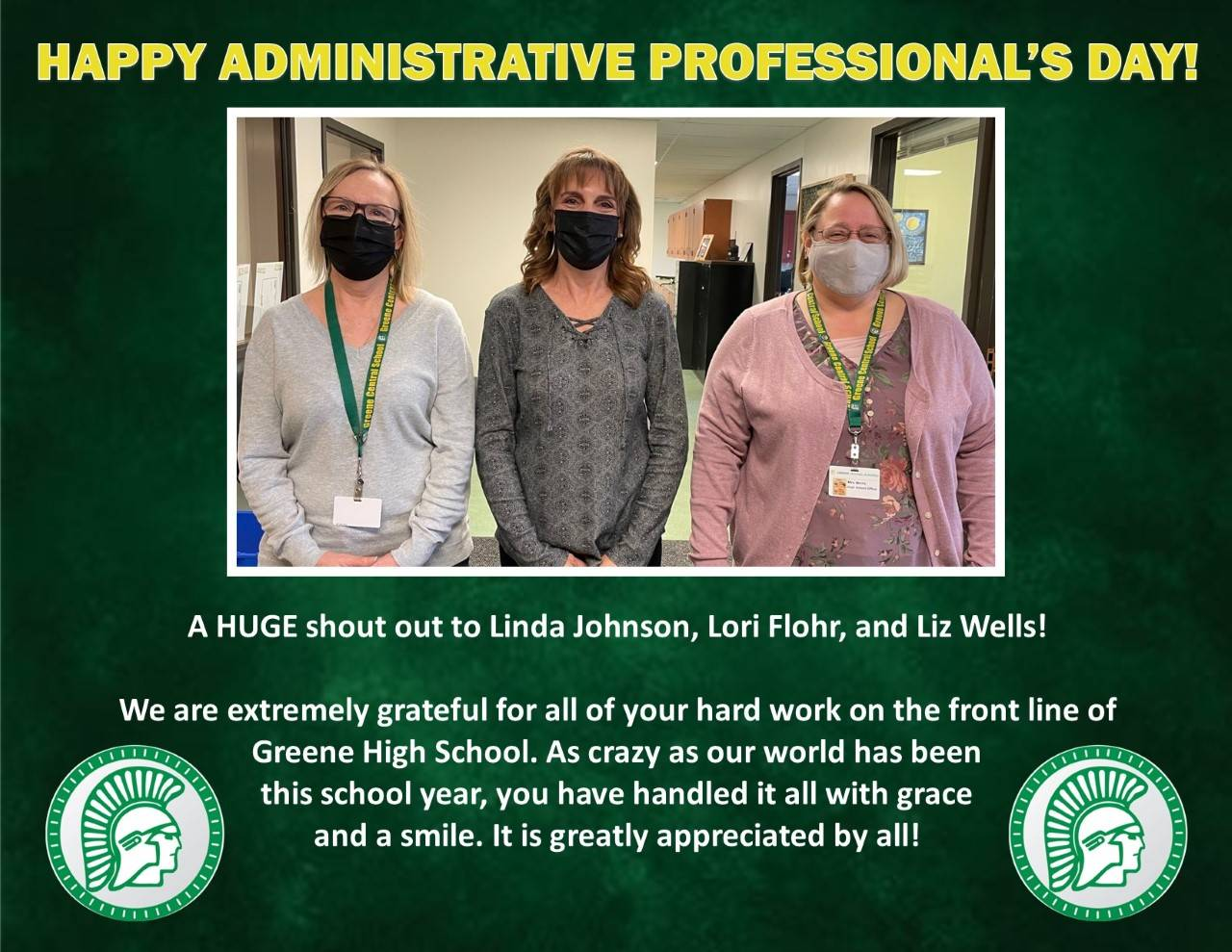 HS Administrative Assistant Staff Photo