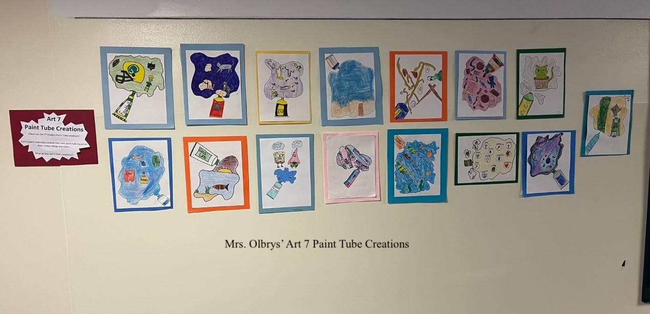 Mrs. Olbrys' Art 7 Paint Tube Creations photo