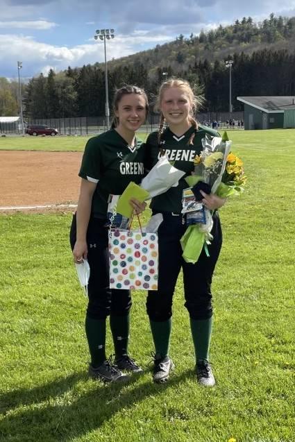 Greene softball Senior Recognition Photo