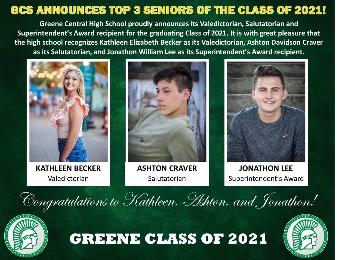 Top 3 Seniors Bios and pics