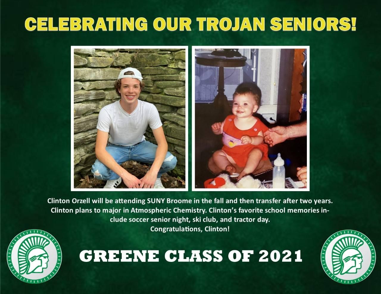 Clinton Orzell Senior Spotlight Bio