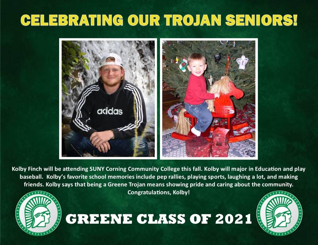 Kolby Finch Senior Spotlight Bio