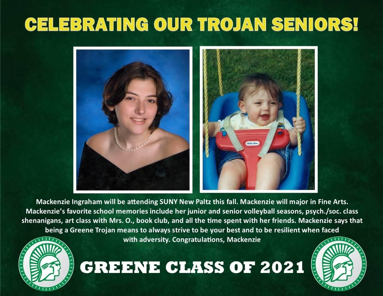 Mackenzie Ingraham Senior Spotlight bio