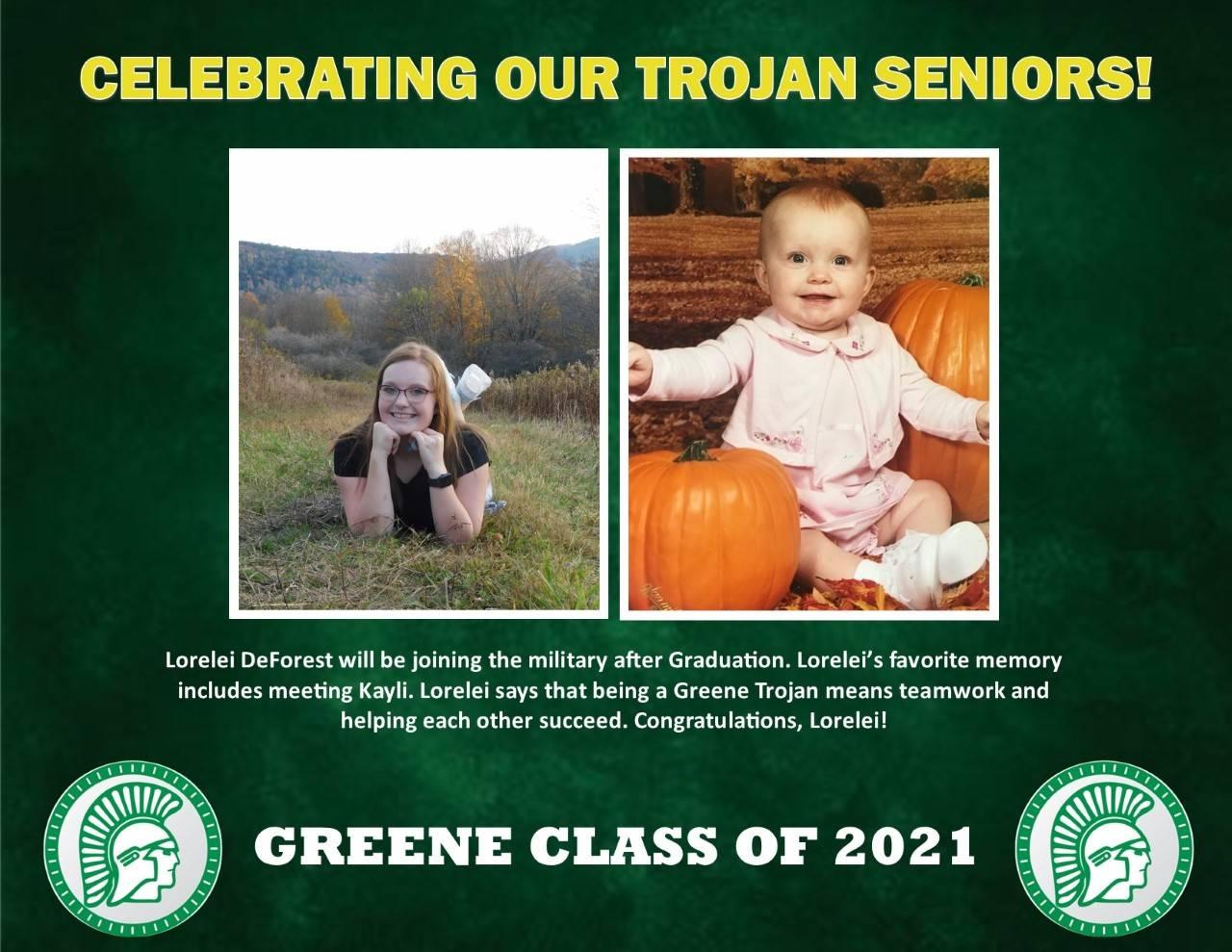 Lorelei DeForest Senior Spotlight Bio