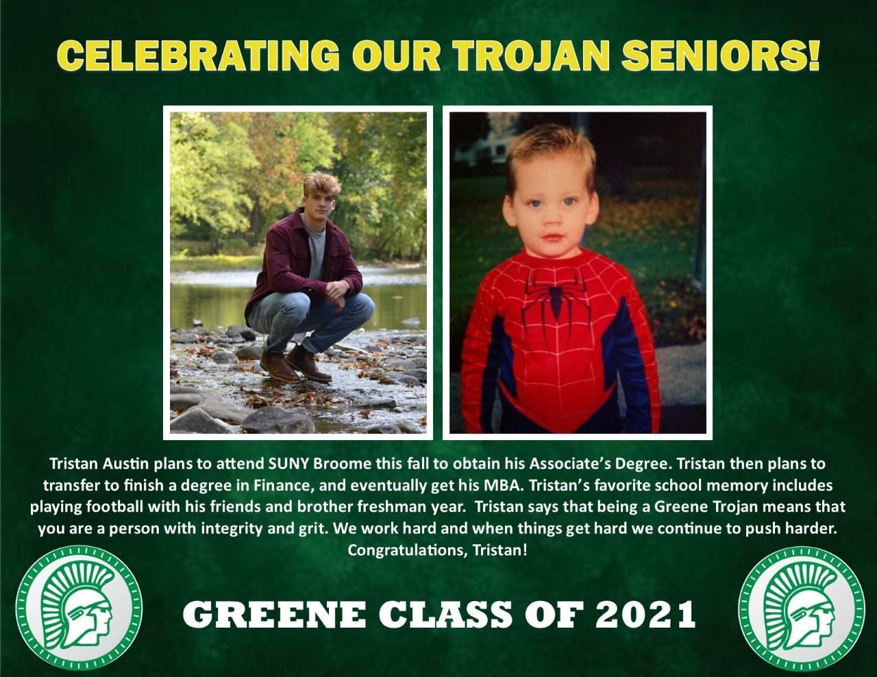 Tristan Austin Senior Spotlight Bio