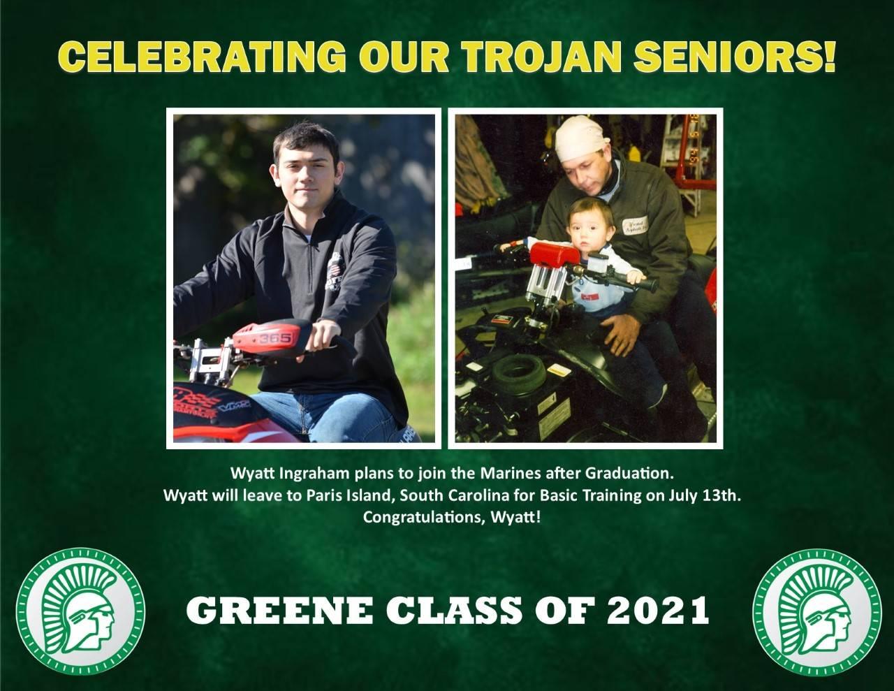 Wyatt Ingraham Senior Spotlight Bio