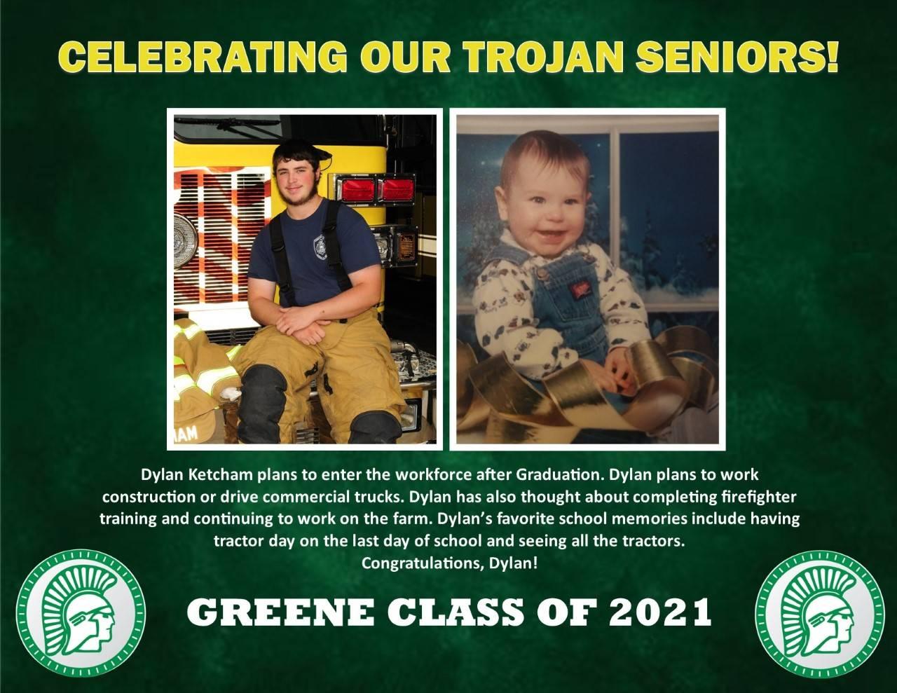 Dylan Ketcham Senior Spotlight Bio