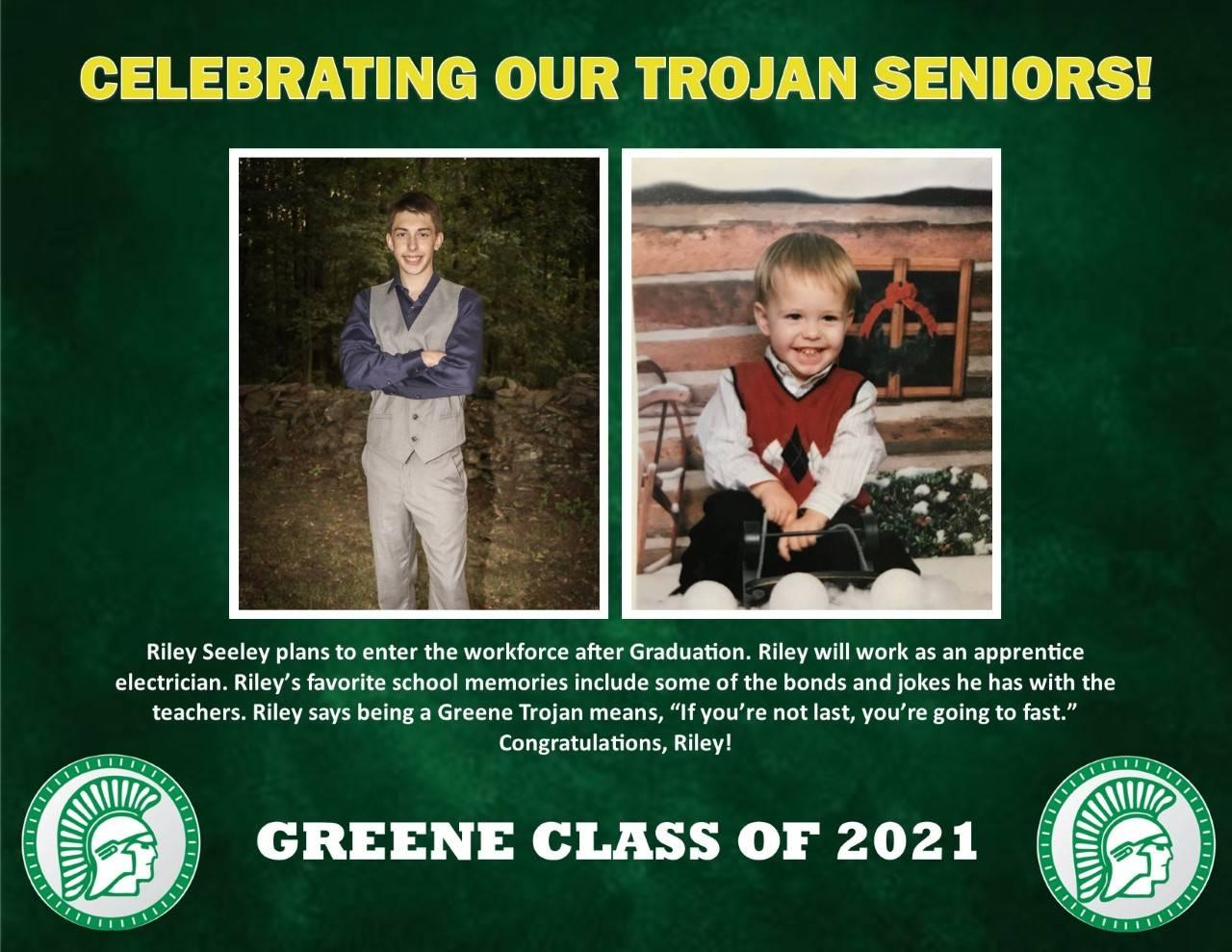 Riley Seeley Senior Spotlight Bio