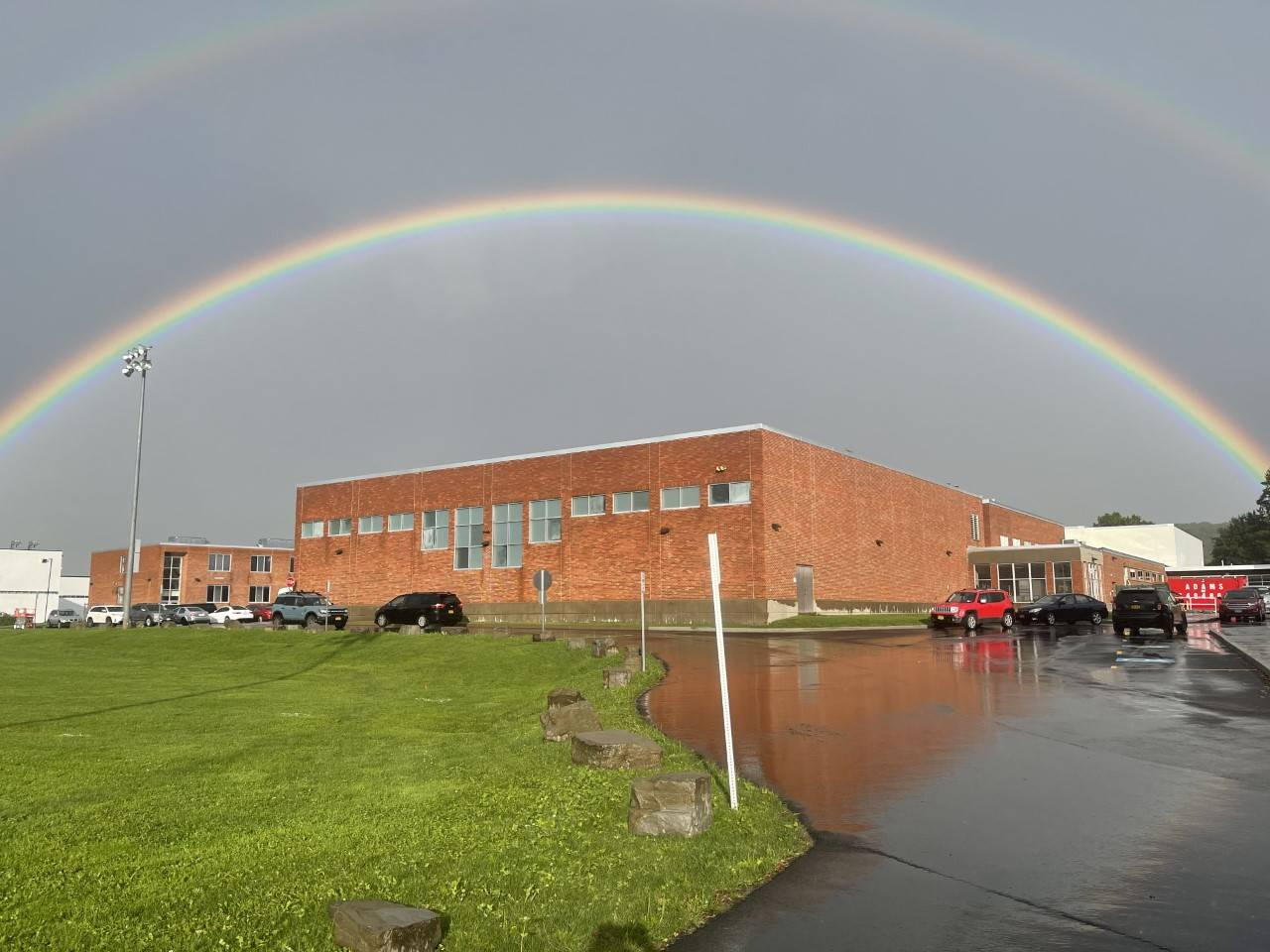 Photo of Rainbow Over HS Building