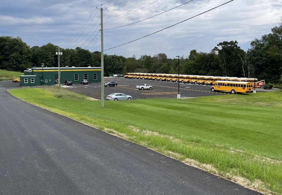 Photo of Newly Renovated Bus Garage Parking Area
